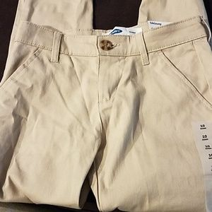 NWT Old Navy khaki school pants